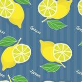 Het naadloze patroon van de citroen royalty-vrije stock afbeelding