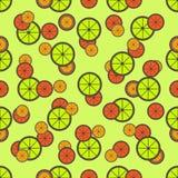 Het Naadloze Patroon van de citrusvrucht Stock Afbeeldingen