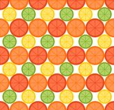Het naadloze patroon van de citrusvruchtenzomer Stock Fotografie