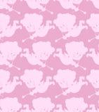 Het naadloze patroon van de Cupido Romantische achtergrond van kleine engelen Royalty-vrije Stock Foto
