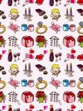 Het naadloze patroon van de Dag van de Valentijnskaart Stock Foto