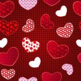 Het Naadloze Patroon van de Dag van rode Valentin van de Liefde vector illustratie