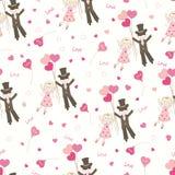 Het naadloze patroon van de Dag van valentijnskaarten Stock Foto's