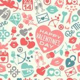 Het naadloze patroon van de Dag van valentijnskaarten Stock Fotografie