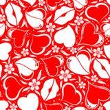 Het naadloze patroon van de Dag van valentijnskaarten Stock Afbeelding