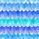 Het naadloze Patroon van de Daling van het Water Stock Afbeelding
