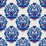 Het naadloze patroon van de damastbloem Stock Afbeeldingen