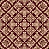 Het naadloze patroon van de damastluxe Royalty-vrije Stock Foto