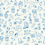 Het naadloze patroon van de de lentetuin Royalty-vrije Stock Afbeeldingen