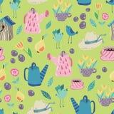 Het naadloze patroon van de de lentetuin Royalty-vrije Stock Afbeelding