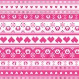 Het naadloze patroon van de de Wintersweater Stock Foto's