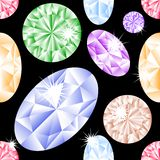 Het naadloze patroon van de diamant vector illustratie