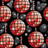 Het naadloze patroon van de disco Stock Foto