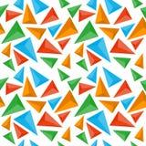 Het naadloze patroon van de driehoek Royalty-vrije Stock Afbeeldingen