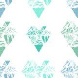 Het naadloze patroon van de driehoek Royalty-vrije Stock Afbeelding
