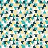 Het naadloze Patroon van de Driehoek De achtergrond van het document Geometrische abstra Stock Foto's