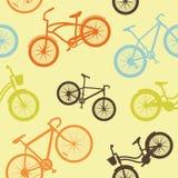 Het naadloze patroon van de fiets Stock Foto