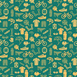 Het naadloze patroon van de fiets Royalty-vrije Stock Fotografie