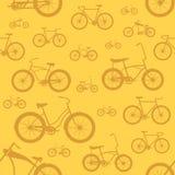 Het Naadloze Patroon van de fiets Stock Foto's