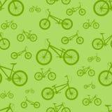 Het Naadloze Patroon van de fiets Stock Afbeeldingen