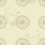 Het Naadloze Patroon van de fiets Royalty-vrije Stock Afbeeldingen