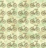 Het naadloze patroon van de fiets Stock Afbeelding