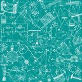 Het naadloze patroon van de fysica Stock Afbeelding