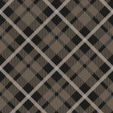 Het naadloze patroon van de geruit Schots wollen stofplaid in taupe, beige, grijs en wit Klassieke stoffentextuur voor digitale t vector illustratie