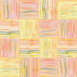 Het naadloze patroon van de grunge gestreepte waterverf Royalty-vrije Stock Afbeeldingen