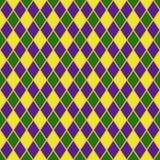 Het naadloze patroon van de harlekijn vector illustratie