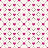 Het naadloze patroon van de hartvorm Roze en wit stock illustratie
