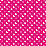 Het naadloze patroon van de hartvorm Roze en wit vector illustratie