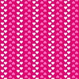 Het naadloze patroon van de hartvorm Roze en wit royalty-vrije illustratie