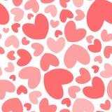 Het naadloze patroon van de hartvorm vector illustratie