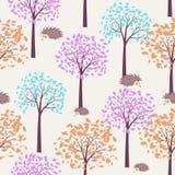 Het naadloze patroon van de herfst Stock Afbeelding