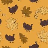 Het naadloze patroon van de herfst Royalty-vrije Stock Afbeeldingen