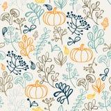 Het naadloze patroon van de herfst Elementenontwerp van blad Stock Foto's