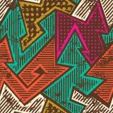 Het naadloze patroon van de Hipsterdoek met grungeeffect stock illustratie