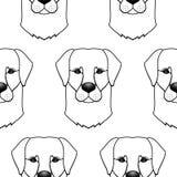 Het naadloze patroon van de hond Royalty-vrije Stock Foto