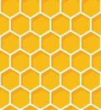 Het Naadloze Patroon van de honingraat Vector natuurlijke honingsachtergrond vector illustratie