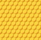 Het Naadloze Patroon van de honingraatbijenkorf Stock Afbeelding