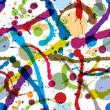 Het naadloze patroon van de inkt splats. Royalty-vrije Stock Afbeeldingen
