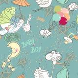 Het naadloze patroon van de Jongen van de Baby Stock Afbeeldingen