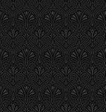 Het naadloze patroon van de Jugendstil Royalty-vrije Stock Afbeeldingen