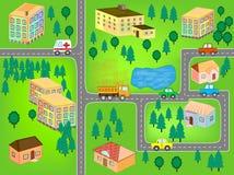 Het Naadloze Patroon van de Kaart van het beeldverhaal vector illustratie