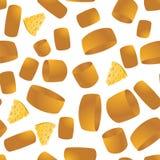Het naadloze patroon van de kaas Geel Voedsel Backround Gemaakt van Koeienmelk Natuurlijk product Stock Fotografie