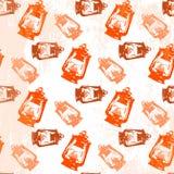 Het naadloze patroon van de kerosinelantaarn Royalty-vrije Stock Foto