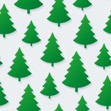 Het naadloze patroon van de kerstboom Royalty-vrije Stock Foto's