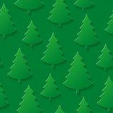 Het naadloze patroon van de kerstboom Stock Foto