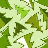 Het naadloze patroon van de kerstboom Vector Illustratie